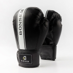 BONSEM Training Boxing Taekwondo Gloves for Adults (Black)