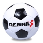 REGAIL No. 4 Explosion-proof Machine-stitched Football for Teenagers Training(Black)