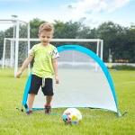 Portable Semi-circular Football Training Gate for Children, Size: 180cm(Blue)