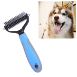 Pet Comb Beauty Cleaning Supplies Dog Stainless Steel Dog Comb, Size: 18x7cm (Blue)
