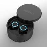 V6 Bluetooth Earphone TWS Wireless Headset Bluetooth 5.0 Handsfree Sport Earphones with Charging Box (Black)