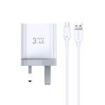 TOTUDESIGN Minimal Series CACA-021 3.4A Dual Micro USB Ports Travel Charger + Micro USB Data Cable Set, UK Plug