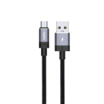 TOTUDESIGN Speedy Series BM-001 2.4A Mirco USB Interface Data Sync Fast Charge Data Cable, Cable Length: 25cm(Grey)