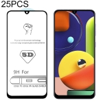 25 PCS For Galaxy A50s 9H 5D Full Glue Full Screen Tempered Glass Film