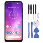 LCD Screen and Digitizer Full Assembly for Motorola One Vision (Blue)