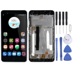 LCD Screen and Digitizer Full Assembly with Frame for ZTE Blade A510 BA510 BA510C (Black)