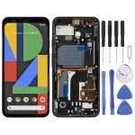 LCD Screen and Digitizer Full Assembly with Frame for Google Pixel 4 (Black)