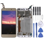 LCD Screen and Digitizer Full Assembly with Frame for Lenovo Vibe K5 A6020A40 (Gold)
