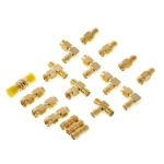 18 PCS / Set SMA Male Female Connector Kit Antenna Plug Converter Coaxial Adapter Set