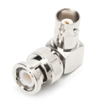 BNC Male to BNC Female Jacks in Series L Type Right Angle RF Card Connector