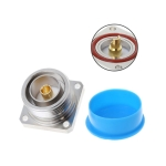 L29 7/16 Din Female Jack Center Connector with 4 Holes Flange Deck Solder Cup RF Coaxial Adapter