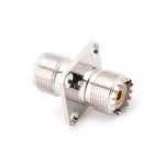 UHF SO239 Female To Female with Panel Mount RF Connector Adapter