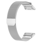 For Garmin Fenix 5 Milan Metal Stainless Steel Metal Watchband (Silver), Size:22MM