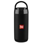 T&G TG113C Column Portable Bluetooth Mini Speaker FM Radio Waterproof Subwoofer Phone Holder Wireless Loundpeakers(Black)