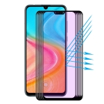 For Huawei Honor  20 Lite 5 PCS ENKAY Hat-Prince 0.2mm 9H 3D Full Screen Soft Carbon Fiber Edges Anti-Blue-Ray Tempered Glass Film