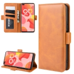 For Huawei Nova 6 Dual-side Magnetic Buckle Horizontal Flip Leather Case with Holder & Card Slots & Wallet(Yellow)