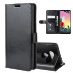 For LG K50S R64 Texture Single Horizontal Flip Protective Case with Holder & Card Slots & Wallet& Photo Frame(Black)