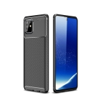 For Galaxy A81 / M60s Carbon Fiber Texture Shockproof TPU Case(Black)