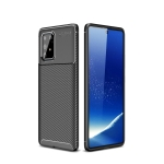 For Galaxy A91 / M80s Carbon Fiber Texture Shockproof TPU Case(Black)