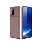 For Galaxy A91 / M80s Carbon Fiber Texture Shockproof TPU Case(Brown)