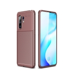 For Vivo X30 Pro Carbon Fiber Texture Shockproof TPU Case(Brown)