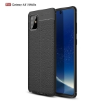 For Galaxy A81 / M60s Litchi Texture TPU Shockproof Case(Black)