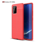 For Galaxy A91 / M80s Litchi Texture TPU Shockproof Case(Red)