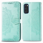 For Galaxy S11e Halfway Mandala Embossing Pattern Horizontal Flip Leather Case with Holder & Card Slots & Wallet & Photo Frame & Lanyard(Green)