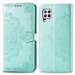 For Huawei Nova 6 SE Halfway Mandala Embossing Pattern Horizontal Flip Leather Case with Holder & Card Slots & Wallet & Photo Frame & Lanyard(Green)