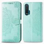 For Huawei Nova 6 Halfway Mandala Embossing Pattern Horizontal Flip Leather Case with Holder & Card Slots & Wallet & Photo Frame & Lanyard(Green)