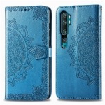 For Xiaomi Mi Note 10 Pro Halfway Mandala Embossing Pattern Horizontal Flip Leather Case with Holder & Card Slots & Wallet & Photo Frame & Lanyard(Blue)