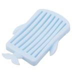3 PCS Whale Portable Soap Dishes Shelf Organizer(Blue)