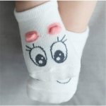 Unisex Cotton Infant Baby Socks Floor Socks Kids Cute Socks, Size:S(Pink)