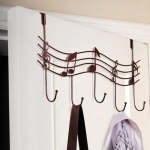 Metal Musical Notes Door Back Hanging Hooks(Bronze)