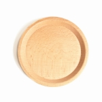 Beech Coffee Cup Accessories Wooden Tableware, Style:Saucer
