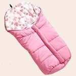 Newborn Baby Stroller Sleeping Bag Infant Go out Swaddle Winter, Size:82x45x38cm(Pink)