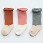 3 Paris Winter Thicken Baby Boys Girls Infant Warm Children Socks, Size:XS(Matching Color Girl)