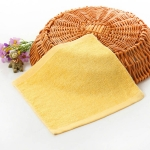 2 PCS Wood Fiber Small Square Dish Towel(Yellow)