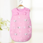 Spring Summer Cotton Soft And Airpermeability Sleeping Bag, Size:120/66(Pink Bear)