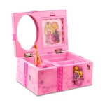 Girly Heart Dancing Girl Jewelry Storage Music Box, Style:Swing(Pink)