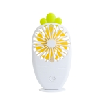 USB Charging Fan Creative Radish Night Light Pocket Mini Fan(White)