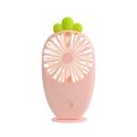 USB Charging Fan Creative Radish Night Light Pocket Mini Fan(Pink)