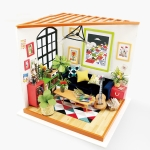 DIY Cottage Handmade Model Creative Assembled Art House, Style:Cass Musical Living Room