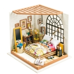 DIY Cottage Handmade Model Creative Assembled Art House, Style:Alice Sweet Dream Bedroom