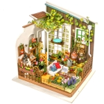 DIY Cottage Handmade Model Creative Assembled Art House, Style:Miller Sun Garden