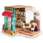 DIY Cottage Handmade Model Creative Assembled Art House, Style:Simon Time Cafe