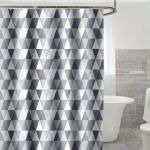 Curtains for Bathroom Waterproof Polyester Fabric Moldproof Bath Curtain, Size:200x200cm