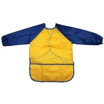 Long Sleeve Apron Drawing Painting Waterproof Smock Children Craft Art Waterproof Clothes, Size:S(Yellow)
