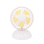 USB Charging Fan 90 Degree Rotating Ball Desktop Fan(White)