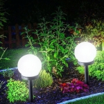 2 PCS Waterproof Outdoor Bulb Solar Ground Light Lawn Landscape Decoration(White Light)